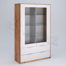 Сервант Асті 2 дверний глянець білий