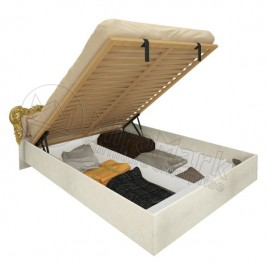 Ліжко Дженніфер 1,6х2,0 підйомне м'яка вставка з каркасом радіка беж