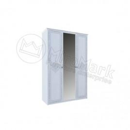 Шафа Луїза 3 дверна глянець білий