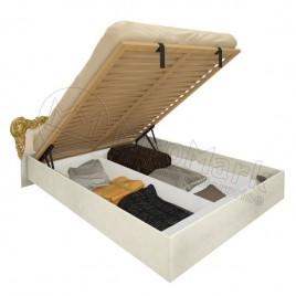 Ліжко Вікторія 1,6х2,0 підйомне з каркасом радіка беж